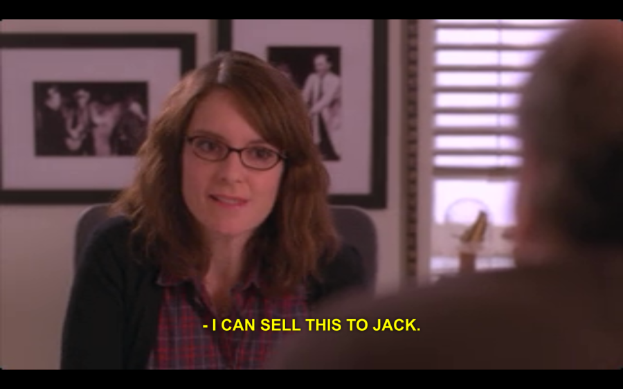 30 Rock screen capture, image from http://rebloggy.com/post/liz-lemon-30-rock-jack-donaghy-30-rock-is-so-real/75749499015